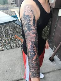 Sleeve Tattoo Forest Forest Tattoo идеи для татуировок лесные