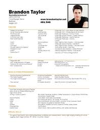 film resume samples resume sample film smlf format your film theatre or acting resume