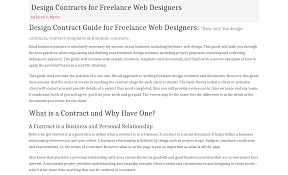 Freelance Design Contracts Templates Top 7 Web Development Contract Templates Free