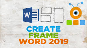Frame For Word How To Create A Frame In Word 2019 How To Create A Page Border In Word 2019