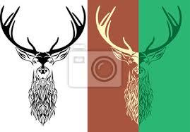 Fototapeta Tetování Jelen Logotyp