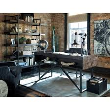 modern rustic office. Home Office Desk Modern Rustic E