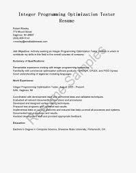 resume samples integer programming optimization tester resume sample game programmer resume