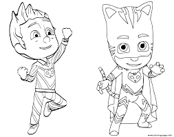 By best coloring pagesfebruary 16th 2018. Pajama Hero Connor Is Catboy From Pj Masks Coloring Pages Printable