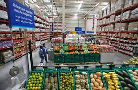 walmart store inside. Modren Store Employees Walk Inside A Bharti Walmart Store In Hyderabad India WalMart  Stores Inc And Local Partner Group Recently Opened The Outlet Intended Store Inside T