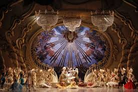 artists perform beneath crystal chandeliers in david mcallister s the sleeping beauty at the sydney opera house