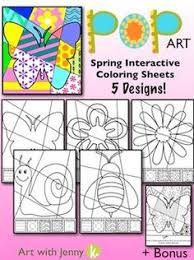 Small Picture POP ART INTERACTIVE COLORING SHEET FREEBIE FOR SPRINGSUMMER
