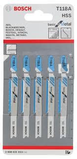 <b>Пилки для лобзика</b> по металлу (67 мм; 5 шт.) HSS T118 A <b>Bosch</b> ...