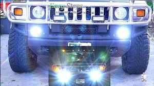 Hummer H2 Fog Light Bulb How To Replace Upgrade Hummer H2 Daytime Running Light Drl To Led Lights H2 Drl Led Upgrade