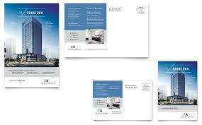 Downtown Apartment Postcard Template Design Impressive Apartment Brochure Design