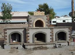 looking for a custom outdoor pizza oven phoenix that includes a fireplace below