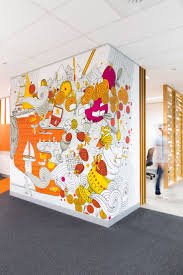 office wall designs. frost creates graphics for cba melbourne office wall designs