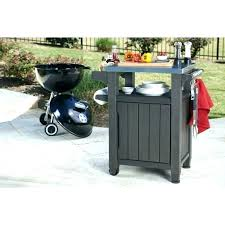 outdoor prep table with storage grill unity indoor serving cart station extraordinary diy food stat outdoor grill table prep
