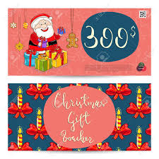 Christmas Gift Coupon Christmas Gift Voucher Template Gift Coupon With Xmas Attributes