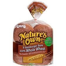 nature s own calories fat carbs and protein 100 whole wheat hamburger bun