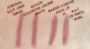 mac lip pencil whirl mufe aqua lip 3c revlon colorstay lipliner mauve dupe lipliner