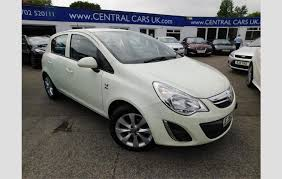 5 door in white make vauxhall model corsa colour green year 2012