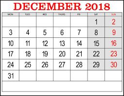 December Calendar Excel December 2018 Calendar Excel Template Printable Paper Sheets