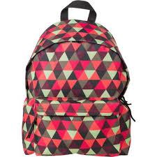 <b>Рюкзак молодежный №1 School</b> Красно-зеленые треугольники ...