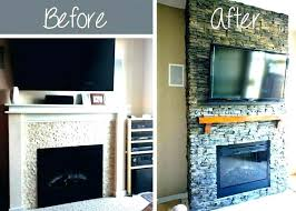 diy stone fireplace install faux stone fireplace faux stone fireplace surround diy stone veneer over brick