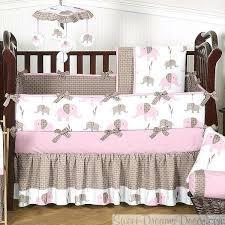 pink and gray elephant crib bedding elephant pink 9 piece baby girl crib bedding set