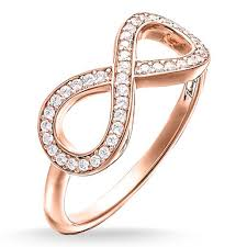 infinity ring gold. glam \u0026 soul rose gold plated cubic zirconia infinity ring