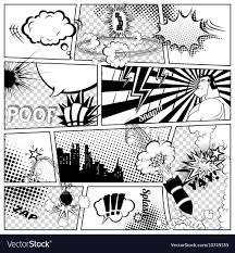 ics template retro ic book sch vector image