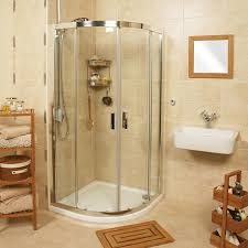 Exellent Curved Shower Enclosures Uk Embrace Quadrant Twin Door Throughout Design