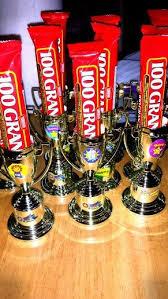 Trophies bought at party city, stickers and candy at dollar store. - for  UTA