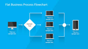 Flat Business Process Flowchart for PowerPoint - SlideModel