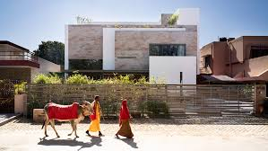 Chandigarh Design Charged Voids Builds Stone Clad Chandigarh Home Around