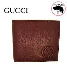 gucci gucci men s leather two fold unused wallet burdy bordeaux