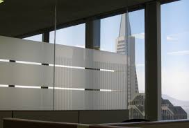 office glass windows. Exellent Windows This Office With Frosted Window Film Has A View Of The Transamerica  Building In SF And Office Glass Windows T