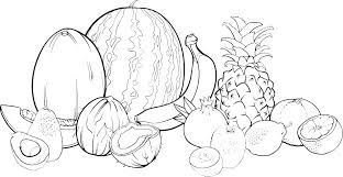 Coloring Pictures Of Fruit Apple Coloring Fruit Clip Art Coloring