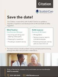 Citation Event 5 December Scottish Care