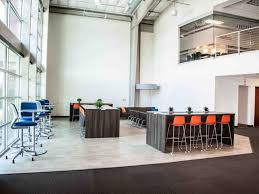 open office interior design. Open Office Space Interior Design. Tall Chairs And Desks On Main Floor, Conference Room Design