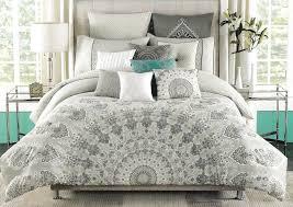 grey and white duvet cover canada gold bedroom a max studio shalia gray white silver moroccan