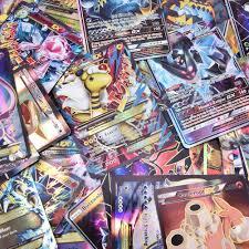 Flyglobal Carte de Pokemon Jeux de Cartes 100 Pcs Pokemon Style Carte de  Pokemon Full Art 80 Cartes EX 20 Cartes GX Jeu de Cartes Amusant de Pokemon  Jouets fantaisie Jeux et Jouets