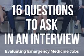 evaluating an emergency medicine job apollomd