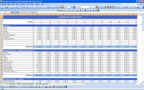 Monthly Expenses Worksheet India Sample Spreadsheet Example