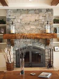 natural stone fireplace farmhouse family room