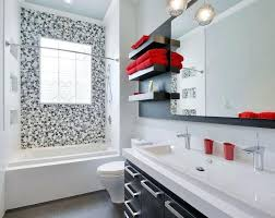 red black and white bathroom full size of designs black and red tub sign fixtures space
