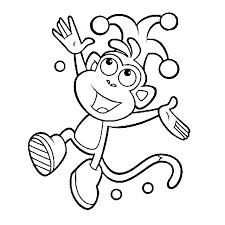 Kleurplaat Dora The Explorer Animaatjesnl