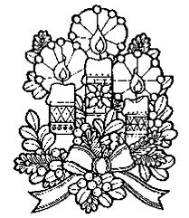 Small Picture Christmas candle Coloring Pages