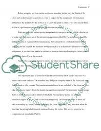 community interpreting level course assignment essay  community interpreting level 3 course assignment essay example