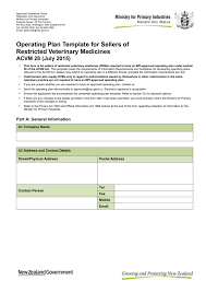 Mpi Organisational Chart Operating Plan Template For Sellers Of Restricted Veterinary