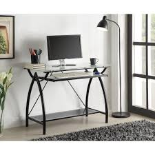 Desk glass top Wood Ospdesigns Newport Black Desk Home Depot Ospdesigns Newport Black Desknwp25bk The Home Depot