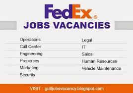Fedex Jobs Inspiration Gulfjobsvacancy Fedex Jobs Vacancies