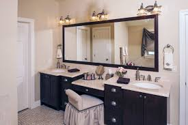 makeup area double sink vanity