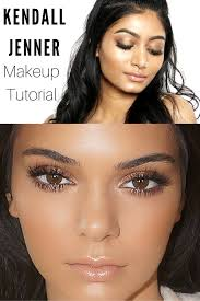 kendall jenner inspired makeup tutorial bronzy glowy